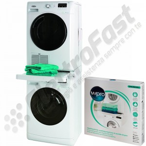 kit sovrapposizione WPRO lavatrice / asciugatrice