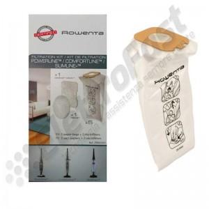 Kit di 5 sacchetti microfibra + 2 microfiltri